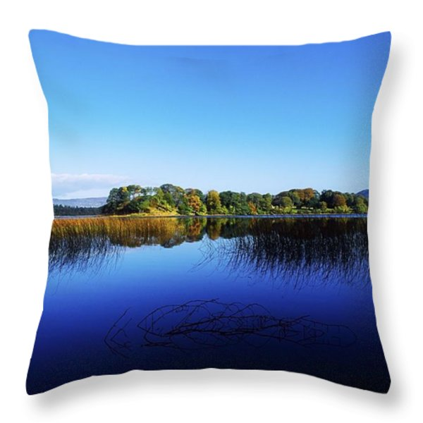 Cottage Island, Lough Gill, Co Sligo Throw Pillow by The Irish Image Collection