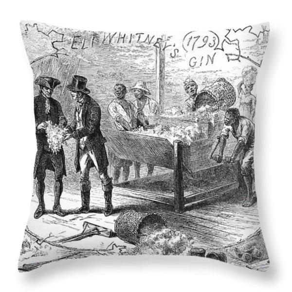 Cotton Gin, 1793 Throw Pillow by Granger
