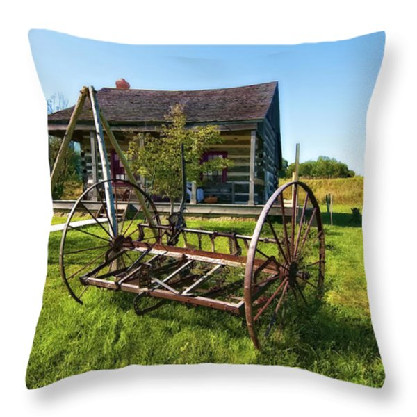 Country Classic oil Throw Pillow by Steve Harrington