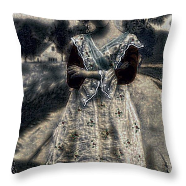 Country Life Throw Pillow by Tisha McGee