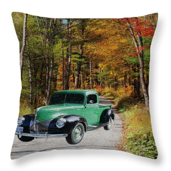 Country Roads Throw Pillow by Cheryl Young