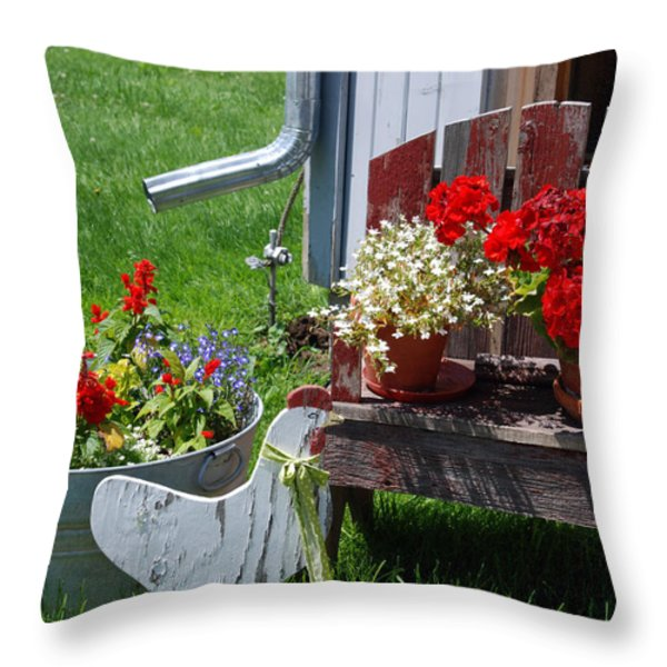 Country Side Throw Pillow by Susanne Van Hulst