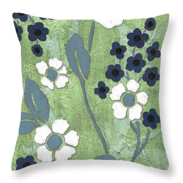 Country Spa Floral 1 Throw Pillow by Debbie DeWitt