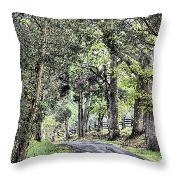 County Roads Throw Pillow by JC Findley
