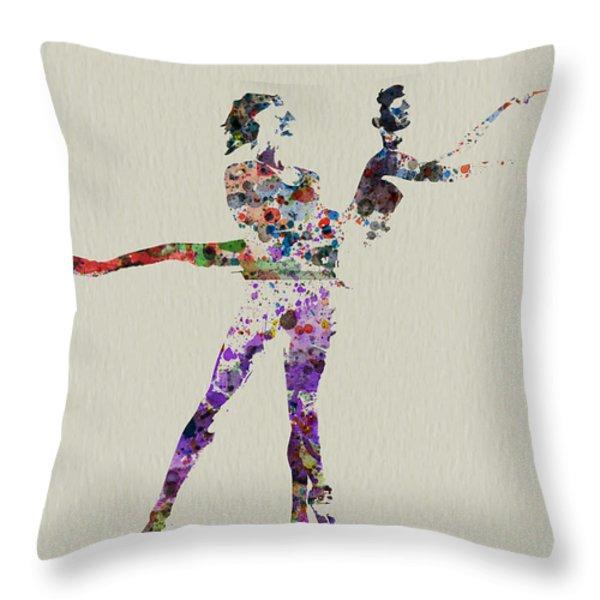 Couple Dancing Throw Pillow by Naxart Studio