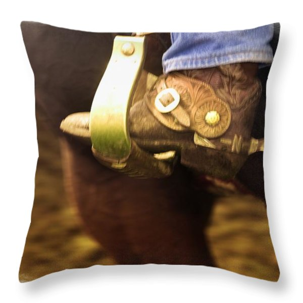 Cowboy Boot Throw Pillow by Carson Ganci