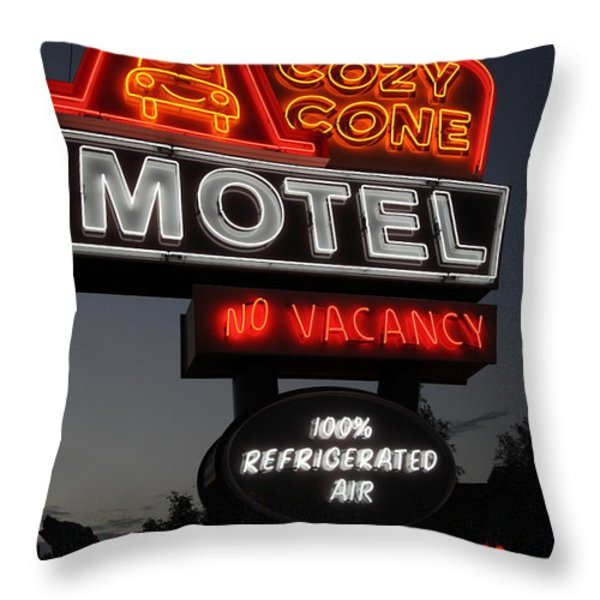 Cozy Cone Motel - Radiator Springs Cars Land - Disney California Adventure - 5D17746 Throw Pillow by Wingsdomain Art and Photography