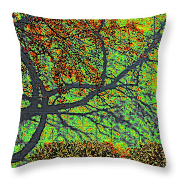Crabapples West Acid Pop Throw Pillow by Feile Case