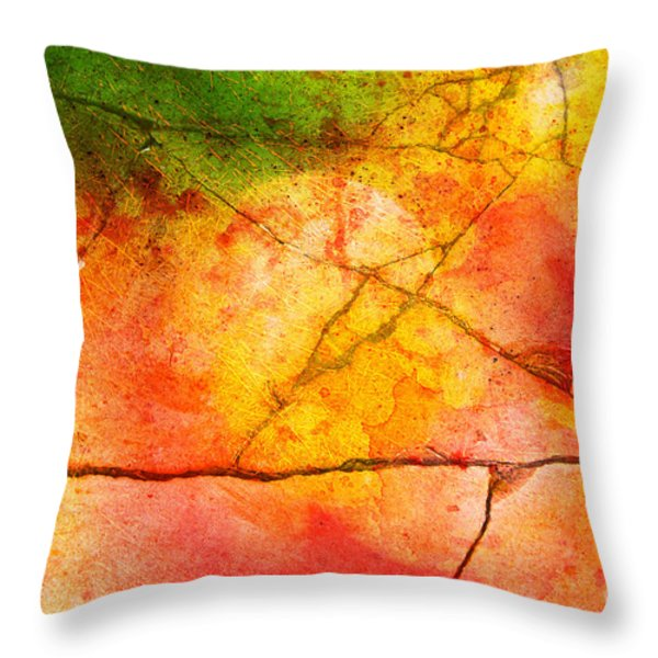 Cracked kaleidoscope Throw Pillow by Silvia Ganora