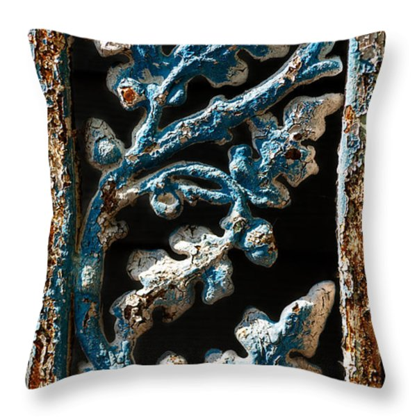 Crackled Coats Throw Pillow by Christopher Holmes