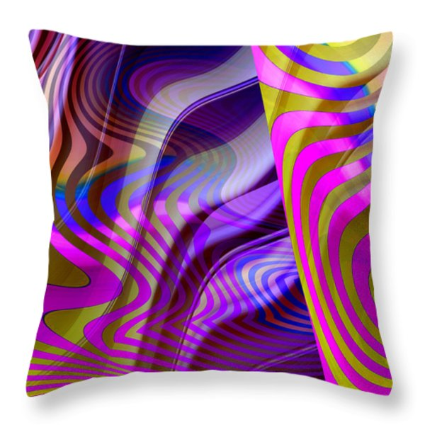Crazy Busy Throw Pillow by Ruth Palmer