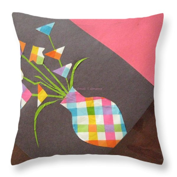 Creative Mind unfolds  Throw Pillow by Sonali Gangane