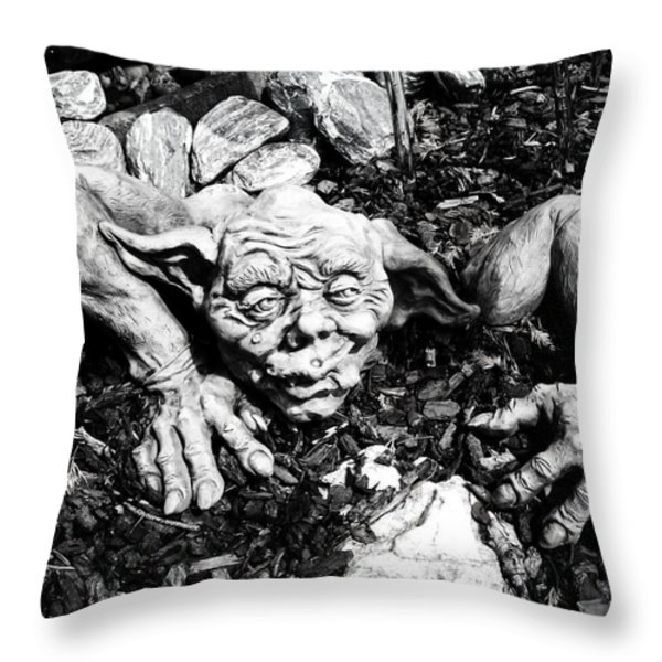 Creepy ... Throw Pillow by Juergen Weiss
