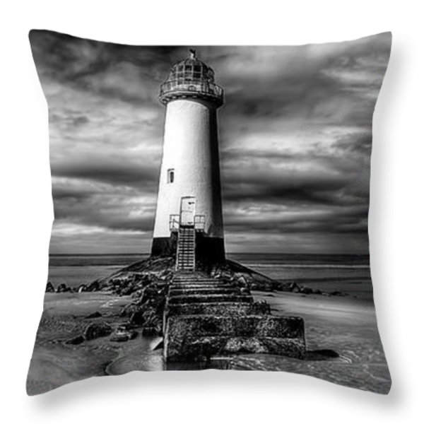 Crooked Lighthouse Throw Pillow by Adrian Evans