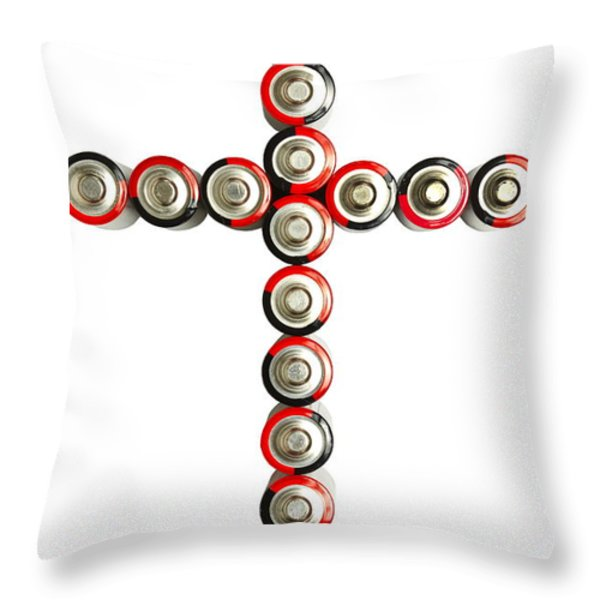 Cross Batteries 1 B Throw Pillow by John Brueske