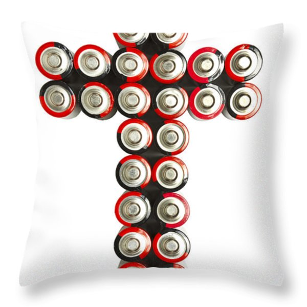 Cross Batteries 2 Throw Pillow by John Brueske