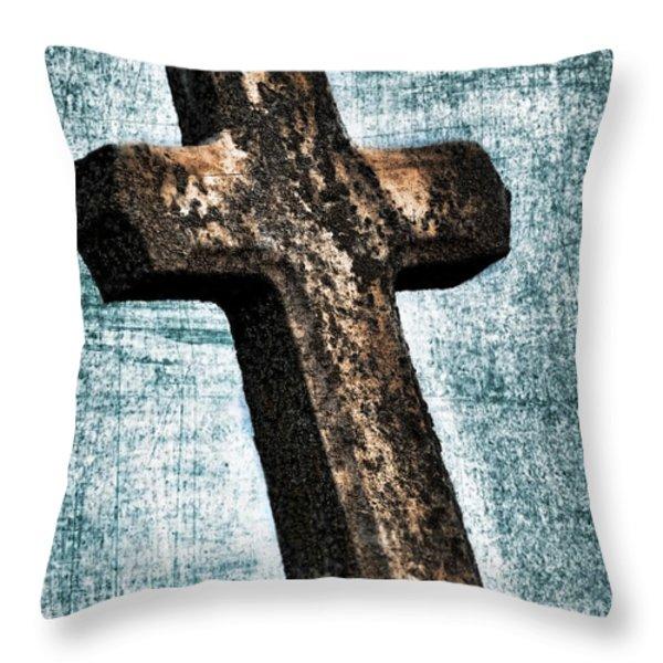 Cross Throw Pillow by Darren Fisher