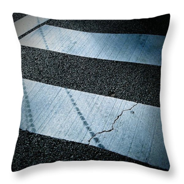 Crosswalk Throw Pillow by Eena Bo
