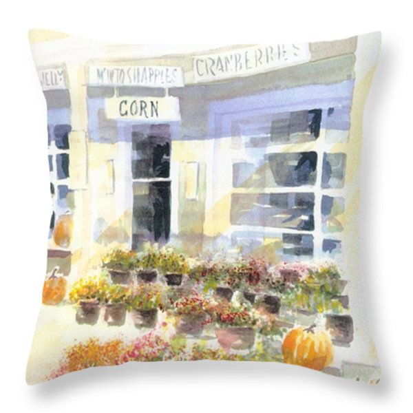 Crow Farm Throw Pillow by Joseph Gallant