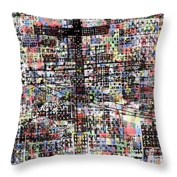 Cruciform Xvii Throw Pillow by Andy  Mercer