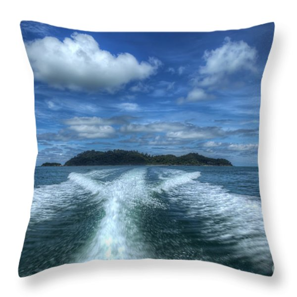 Cruising Throw Pillow by Adrian Evans