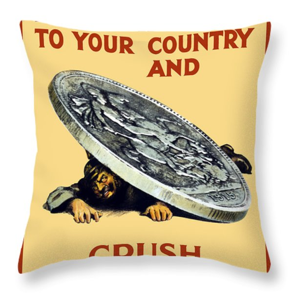 Crush The Germans Throw Pillow by War Is Hell Store
