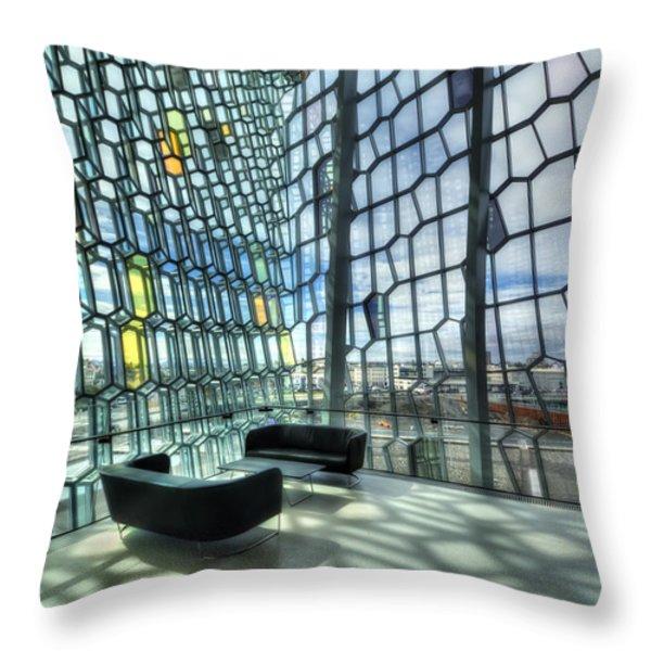 Crystal Fantasy Throw Pillow by Evelina Kremsdorf