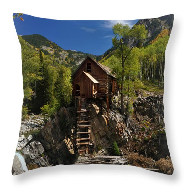Crystal Mill 2 Throw Pillow by Marty Koch