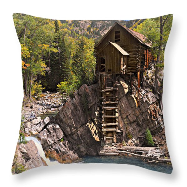 Crystal Mill 3 Throw Pillow by Marty Koch