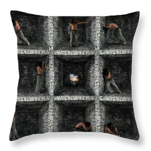 Cube  Throw Pillow by Mariusz Zawadzki