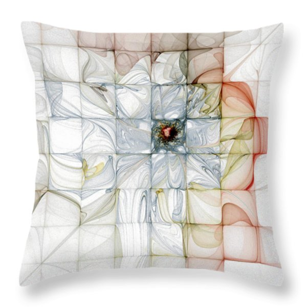 Cubed Pastels Throw Pillow by Amanda Moore