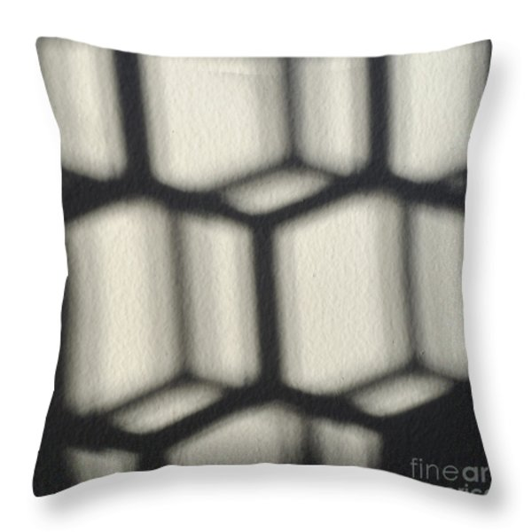 Cubes Throw Pillow by Luke Moore