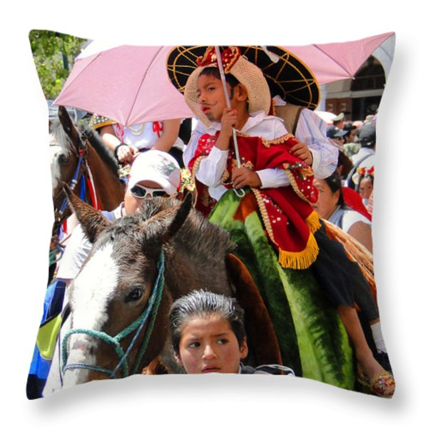 Cuenca Kids 103 Throw Pillow by Al Bourassa