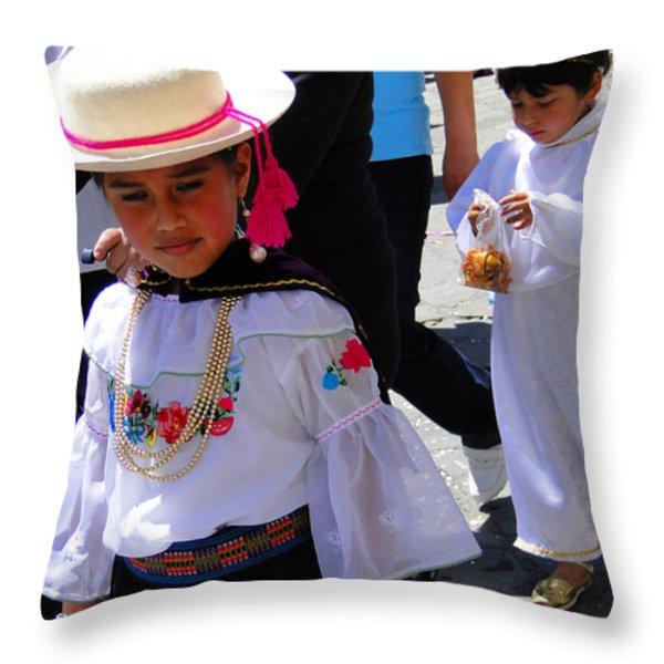 Cuenca Kids 117 Throw Pillow by Al Bourassa