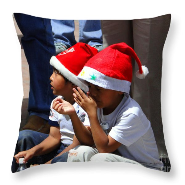 Cuenca Kids 135 Throw Pillow by Al Bourassa