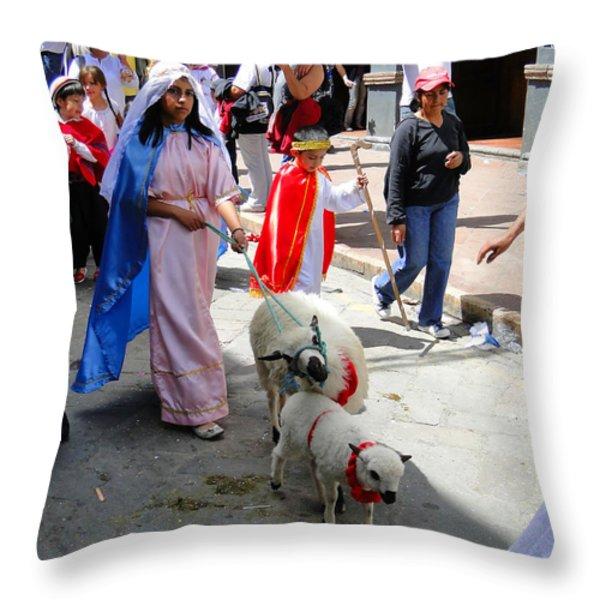 Cuenca kids 150 Throw Pillow by Al Bourassa