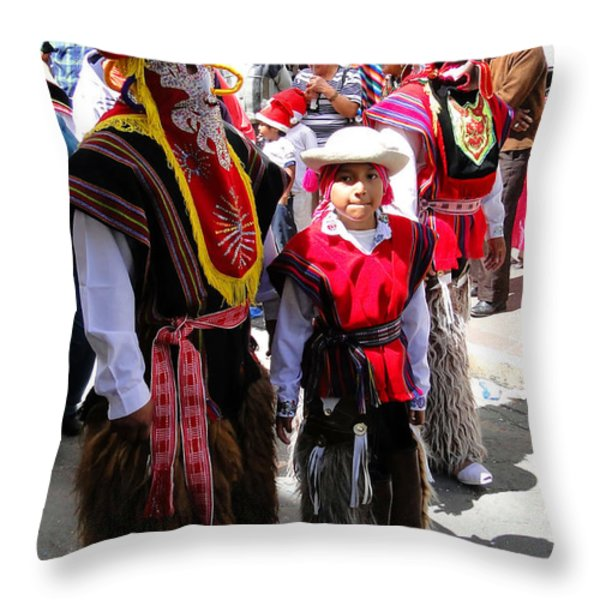 Cuenca Kids 156 Throw Pillow by Al Bourassa