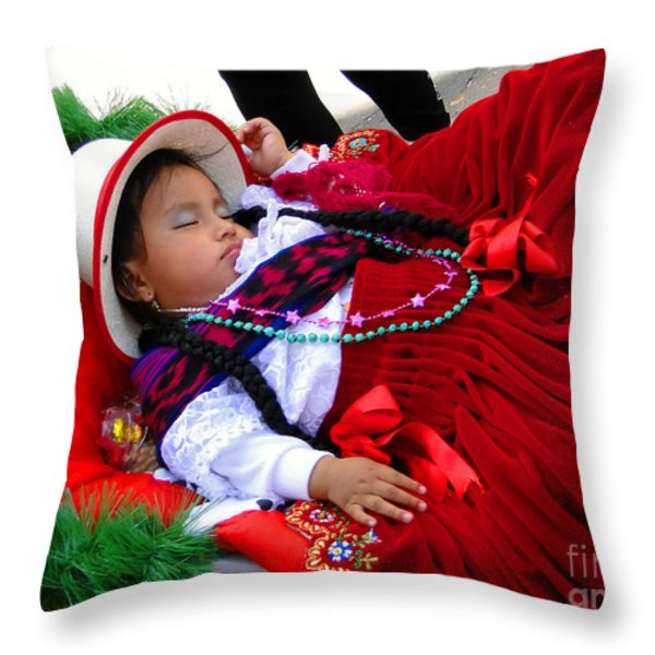 Cuenca Kids 175 Throw Pillow by Al Bourassa