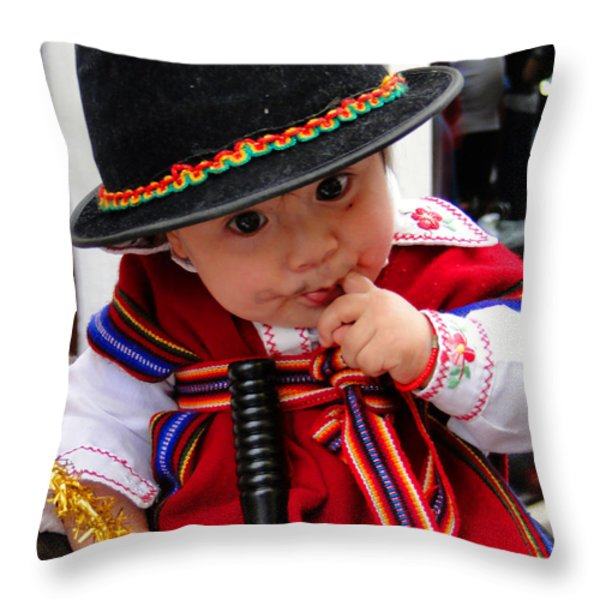 Cuenca Kids 19 Throw Pillow by Al Bourassa