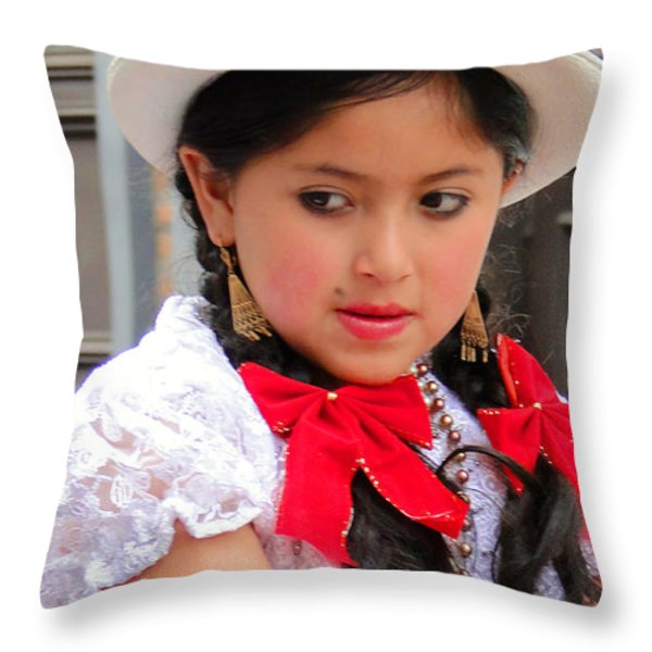 Cuenca Kids 20 Throw Pillow by Al Bourassa