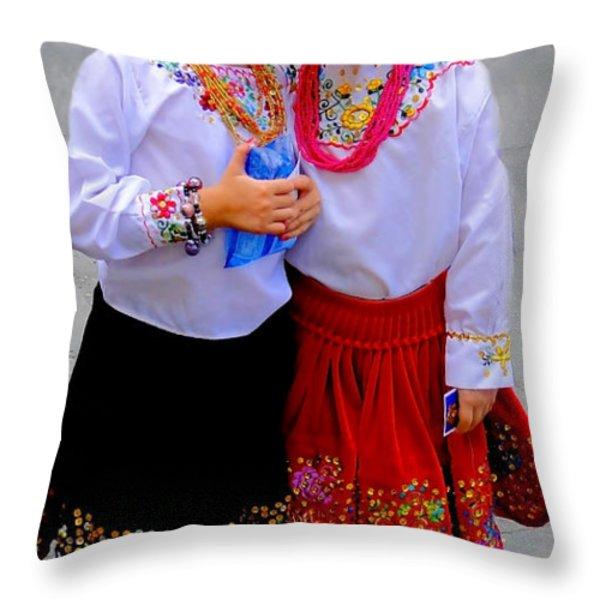Cuenca Kids 202 Throw Pillow by Al Bourassa