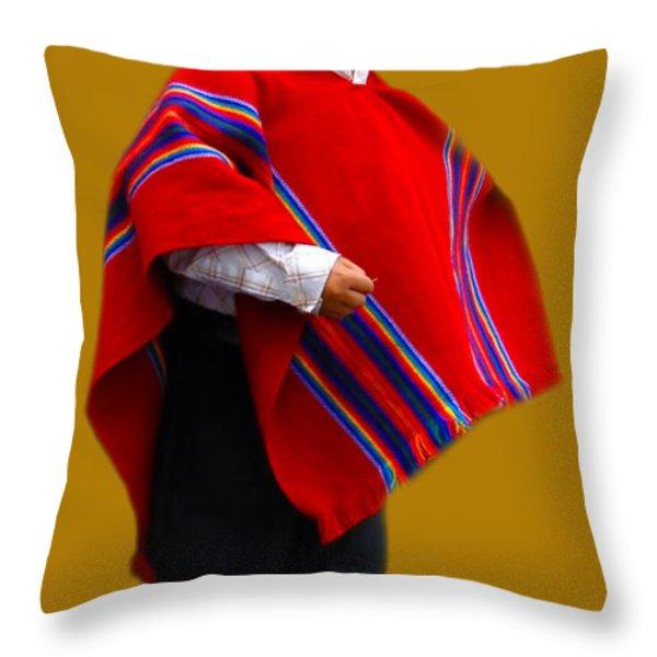 Cuenca Kids 204 Throw Pillow by Al Bourassa