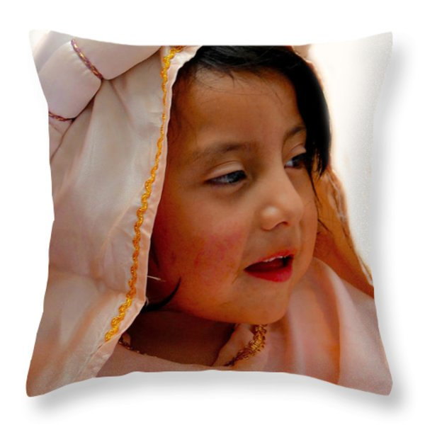 Cuenca Kids 206 Throw Pillow by Al Bourassa