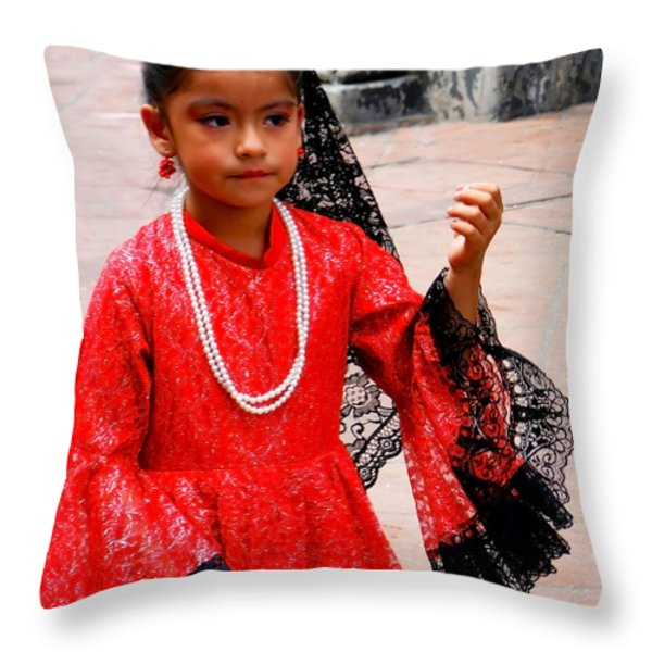 Cuenca Kids 209 Throw Pillow by Al Bourassa