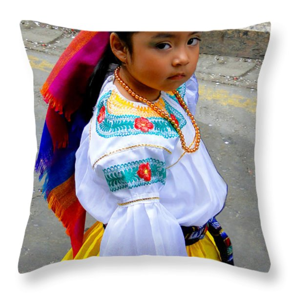Cuenca Kids 210 Throw Pillow by Al Bourassa