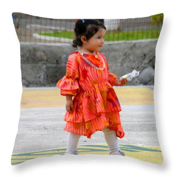 Cuenca Kids 25 Throw Pillow by Al Bourassa