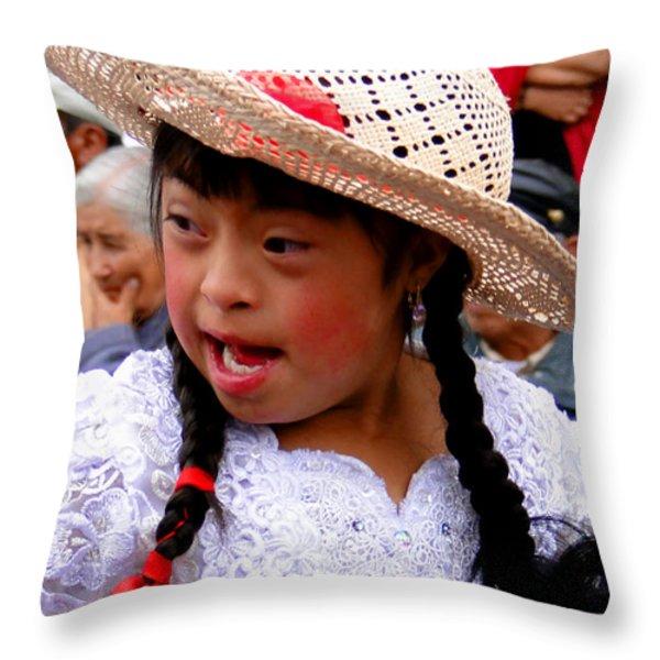 Cuenca Kids 43 Throw Pillow by Al Bourassa