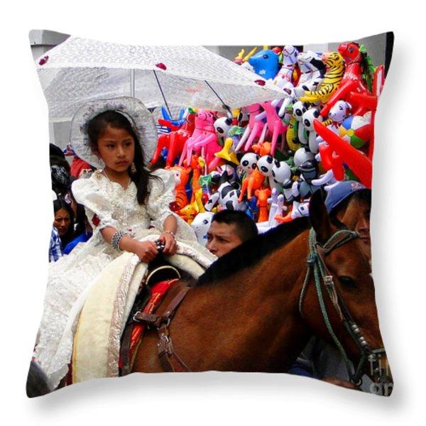 Cuenca Kids 48 Throw Pillow by Al Bourassa