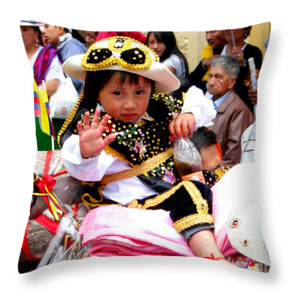 Cuenca Kids 49 Throw Pillow by Al Bourassa