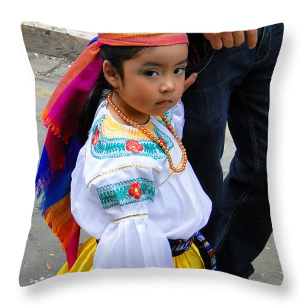 Cuenca Kids 5 Throw Pillow by Al Bourassa